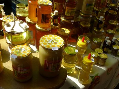 "Organic honey for sale at Budapest's Szimpla Kert Sunday Market, held each week in a popular ""ruin pub."" ROBIN ROBINSON/TORONTO SUN"