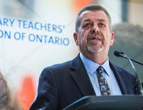 Elementary Teachers' Federation of Ontario president Sam Hammond at a press conference on May 8, 2015. (ERNEST DOROSZUK, Toronto Sun)