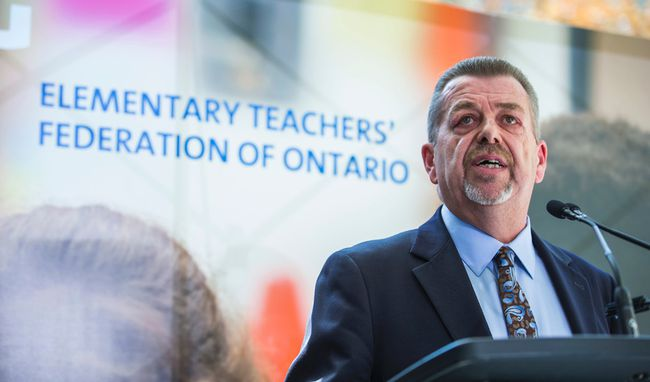 Elementary Teachers' Federation of Ontario president Sam Hammond. (ERNEST DOROSZUK, Toronto Sun)