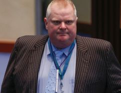 Councillor Rob Ford at city council on Thursday, May 7, 2015. (Dave Thomas/Toronto Sun)