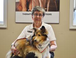 Grey Bruce Huron Branch St. John Ambulance Therapy Dog coordinator Kaye Parker and her dog Kyra.