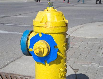 A fire hydrant on King St. in London. Derek Ruttan/The London Free Press/Postmedia Network