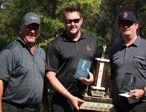 (Left to right): tournament organizer Blaine Clarke, Jon and Steve Slusar.