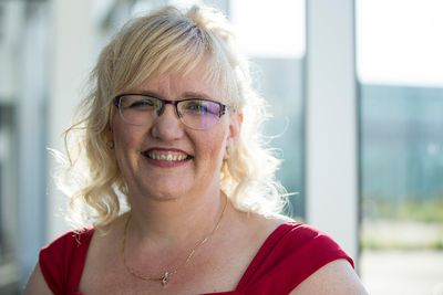 Nominee Janice Gerbrandt poses for a photo during the 33rd annual YWCA Edmonton Women of Distinction Awards at Edmonton Expo Centre in Edmonton, Alta., on Thursday May 28, 2015. Fifty-two women were nominated and eight YWCA Woman of Distinction Awards were awarded. Ian Kucerak/Edmonton Sun/Postmedia Network