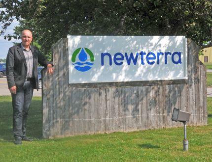 Bruce Lounsbury at the Newterra headquarters in Brockville on Thursday.