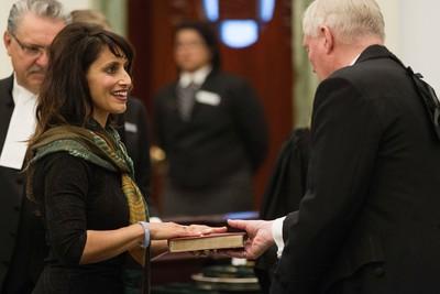 Chestermere-Rocky View MLA Leela Sharon Aheer and members of the Wildrose caucus are sworn-in at the Alberta Legislature, in Edmonton Alta. on Monday June 1, 2015. David Bloom/Edmonton Sun/Postmedia Network