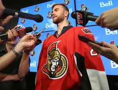 New Ottawa Senators goalie Matt O'Connor was introduced Thursday. (TONY CALDWELL/OTTAWA SUN/POSTMEDIA NETWORK)