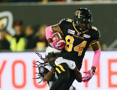 Hamilton Tiger-Cats receiver Bakari Grant. (Stan Behal, Toronto Sun)