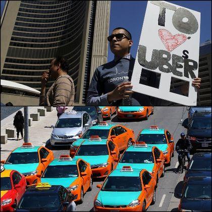 Uber taxi debate