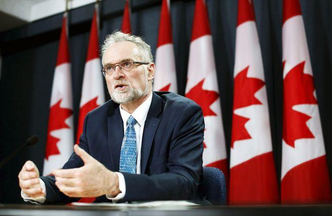 Auditor General Michael Ferguson speaks to the media in Ottawa, April 28, 2015. (CHRIS WATTIE/Reuters)