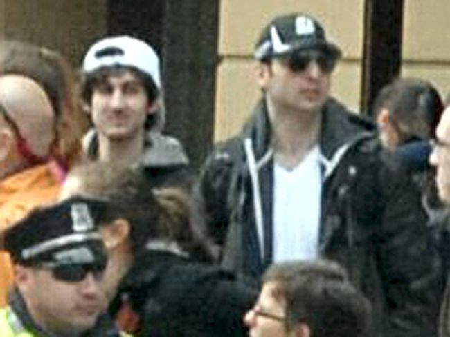Boston Marathon bombers Dzhokhar (L) and Tamerlan Tsarnaev are seen in file handout photo released through the FBI website April 18, 2013.