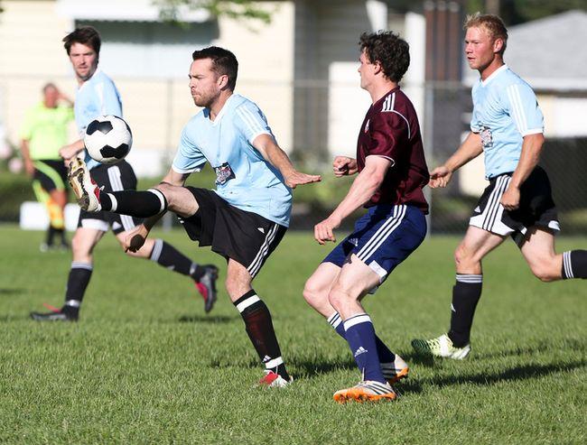 mens soccer team in unfamiliar territory airdrie echo