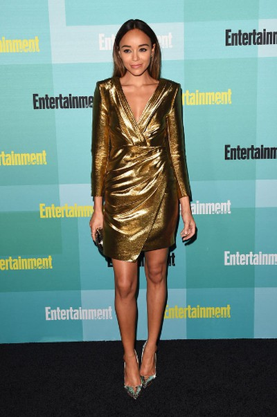 "Ashley Madekwe in a gold Saint Laurent dress with silver sandals. (Jason Merritt/Getty Images for Entertainment Weekly/AFP)  PDRTJS_settings_8184876 = { ""id"" : ""8184876"", ""unique_id"" : ""default"", ""title"" : """", ""permalink"" : """" }; (function(d,c,j){if(!document.getElementById(j)){var pd=d.createElement(c),s;pd.id=j;pd.src=('https:'==document.location.protocol)?'https://polldaddy.com/js/rating/rating.js':'http://i0.poll.fm/js/rating/rating.js';s=document.getElementsByTagName(c)[0];s.parentNode.insertBefore(pd,s);}}(document,'script','pd-rating-js'));"