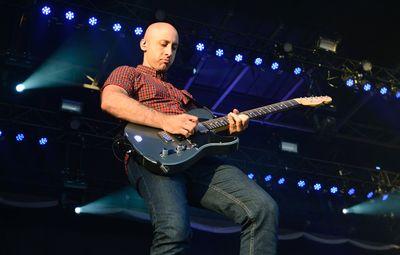 Jeff Stinco of Simple Plan performs on the Claridge Homes Stage at Bluesfest in Ottawa on Saturday, July 18, 2015. Matthew Usherwood/Ottawa Sun/Postmedia Network