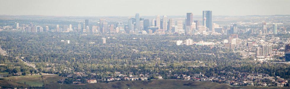 Calgary suburb skyline 2015