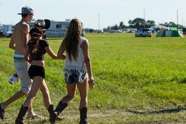 Campers walk through the general admission area during Big Valley Jamboree 2015 in Camrose, Alta. on Thursday July 30, 2015. Ian Kucerak/Edmonton Sun/Postmedia Network