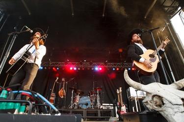 The Dead South perform at the Molson Canadian Saloon during Big Valley Jamboree 2015 in Camrose, Alta. on Thursday July 30, 2015. Ian Kucerak/Edmonton Sun/Postmedia Network