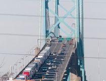 Trucks back up on the Ambassador Bridge at the border crossing in Windsor on Wednesday January 16, 2013. CRAIG GLOVER/Postmedia Network Files