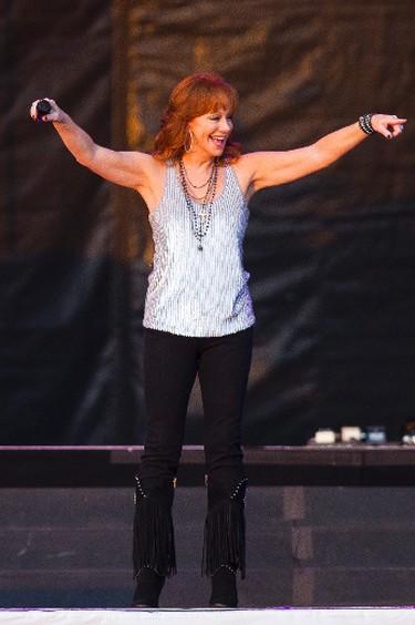 Reba McEntire performs on the main stage during Big Valley Jamboree 2015 in Camrose, Alta. on Friday July 31, 2015. Ian Kucerak/Edmonton Sun/Postmedia Network