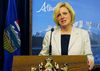 Alberta Premier Rachel Notley speaks during a press conference in Edmonton on Thursday, August 6, 2015.  THE CANADIAN PRESS/Dean Bennett