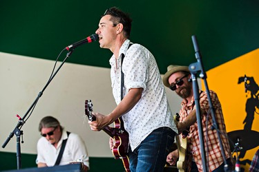 Danny Michel performs at Stage 5 during the Edmonton Folk Music Festival at Gallagher Park in Edmonton, Alta. on Saturday, Aug. 8, 2015. Codie McLachlan/Edmonton Sun/Postmedia Network
