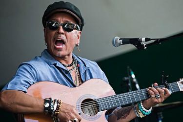 Oscar Lopez performs at Stage 7 during the Edmonton Folk Music Festival at Gallagher Park in Edmonton, Alta. on Saturday, Aug. 8, 2015. Codie McLachlan/Edmonton Sun/Postmedia Network