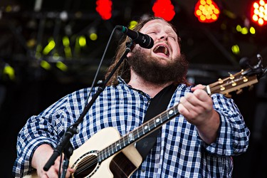 Matt Andersen performs on the main stage during the Edmonton Folk Music Festival at Gallagher Park in Edmonton, Alta. on Saturday, Aug. 8, 2015. Codie McLachlan/Edmonton Sun/Postmedia Network