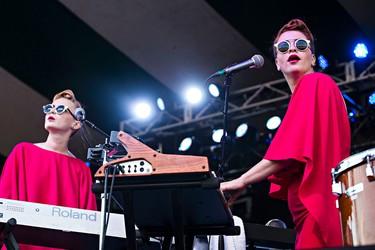 Lucius performs on the main stage during the Edmonton Folk Music Festival at Gallagher Park in Edmonton, Alta. on Saturday, Aug. 8, 2015. Codie McLachlan/Edmonton Sun/Postmedia Network