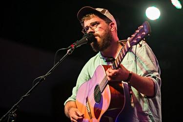 Andrew Davie of Bear's Den performs on the main stage during the Edmonton Folk Music Festival at Gallagher Park in Edmonton, Alta. on Saturday, Aug. 8, 2015. Codie McLachlan/Edmonton Sun/Postmedia Network