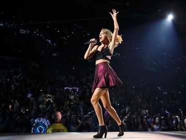 Taylor Swift performs at Rexall Place in Edmonton, Alta. on Tuesday August 4, 2015. Ian Kucerak/Edmonton Sun/Postmedia Network
