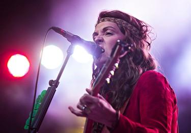 Brandi Carlile performs on the main stage during the Edmonton Folk Music Festival at Gallagher Park in Edmonton, Alta. on Sunday, Aug. 9, 2015. Codie McLachlan/Edmonton Sun/Postmedia Network