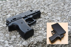 iPhone gun-shaped case
