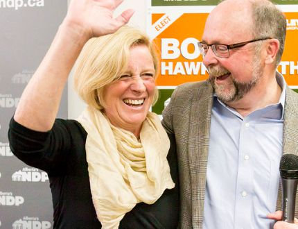 Bob Hawkesworth and Premier Rachel Notley Calgary-Foothills byelection