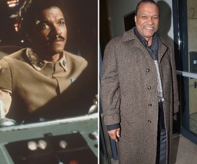 "Billy Dee Williams as Lando (left) and in a more recent photo. (Handout/<A HREF=""http://www.wenn.com"" TARGET=""newwindow"">WENN.COM</a>)"