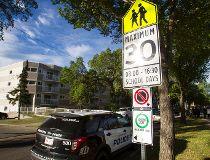 Police sign school zone