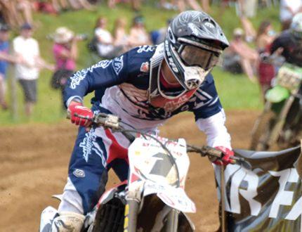 Colton Facciotti races at Gopher Dunes in Round 5 of the Rockstar Energy Drink Motocross Nationals in July. (CHRIS ABBOTT/TILLSONBURG NEWS)