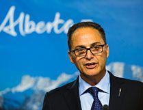 Alberta finance minister Joe Ceci gives a first quarter fiscal update and economic statement at the Alberta Legislature Building in Edmonton, Alta. on Monday, Aug. 31, 2015. Codie McLachlan/Edmonton Sun/Postmedia Network