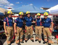 The Hanover FireFit team from left to right are Rob Hagan, Jason Rahn, Dustin Davis, Don Crispin, Brandon Manes.