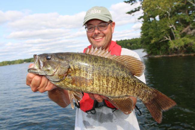 Jason Matity of Regina enjoyed some smallmouth fishing in Ontario with columnist Ashley Rae. (Supplied photo)