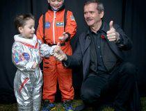 Chris Hadfield and children.