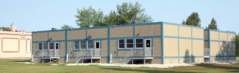 Portable classrooms in Western School Division. (ALEXIS STOCKFORD/Morden Times)