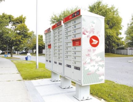 Community mailboxes in London, Ont. on Monday August 31, 2015. (DEREK RUTTAN, The London Free Press)