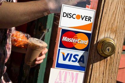 Visa, MasterCard and Discover credit cards