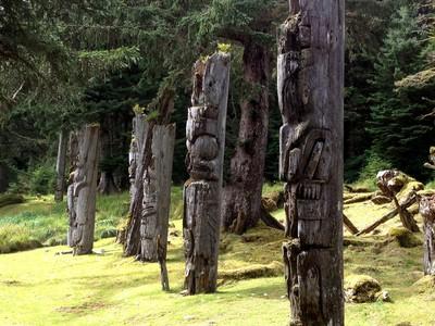 Carved mortuary poles at SGang Gwaay, a sacred village site of the Haida people, during an August 2015 kayaking tour in Gwaii Haanas National Park Reserve on B.C.'s Haida Gwaii. Tony Blais/Edmonton Sun/Postmedia Network