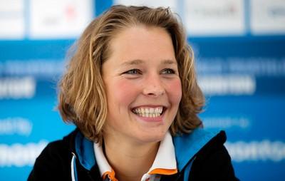 Dutch triathlete Rachel Klamer takes part in a 2015 ITU World Triathlon Edmonton press conference, in Edmonton Alta. on Friday Sept. 4, 2015. David Bloom/Edmonton Sun/Postmedia Network
