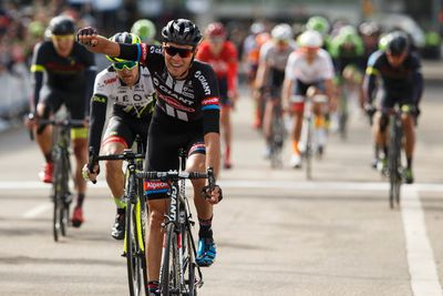 Nikias Arndt with Giant-Alpecin (left) wins the Tour of Alberta final in Edmonton, Alta., on Monday September 7, 2015. Ian Kucerak/Edmonton Sun/Postmedia Network