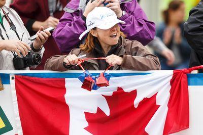 A fan cheers during the Tour of Alberta final in Edmonton, Alta., on Monday September 7, 2015. Bauke Mollima with Trek Factory Racing won the race and Cannondale-Garmin took the team title. Ian Kucerak/Edmonton Sun/Postmedia Network