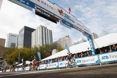 Nikias Arndt with Giant-Alpecin (right) wins the Tour of Alberta final in Edmonton, Alta., on Monday September 7, 2015. Ian Kucerak/Edmonton Sun/Postmedia Network