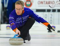 Greg Balsdon in action at the 2015 Ontario Tankard. (Postmedia Network)