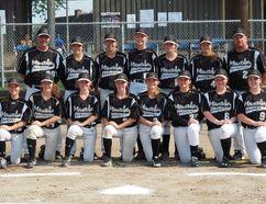 Team Manitoba at the 16U National Baseball Championships.